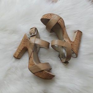 Michael Kors Solid Print Platform Block Heel Shoe